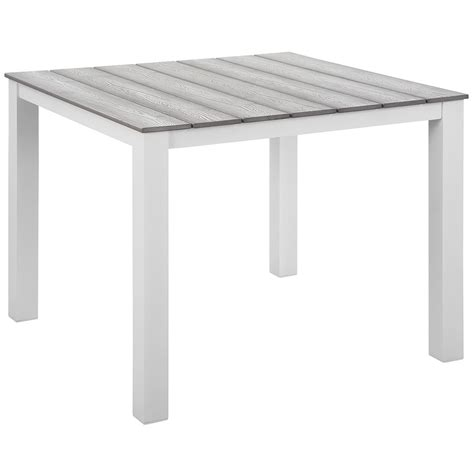 40 inch table ls murano modern white 40 quot outdoor dining table eurway