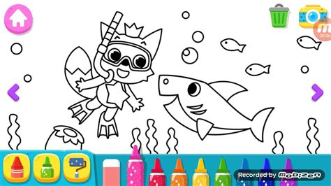 baby shark coloring pages pingfong baby shark make picture youtube