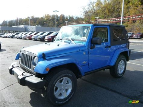 Hydro Blue Jeep 2014 Hydro Blue Pearl Coat Jeep Wrangler Freedom Edition