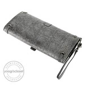 Vinyl Cannage D Clutch by Christian Argent Vieilli Cannage Quilted Leather