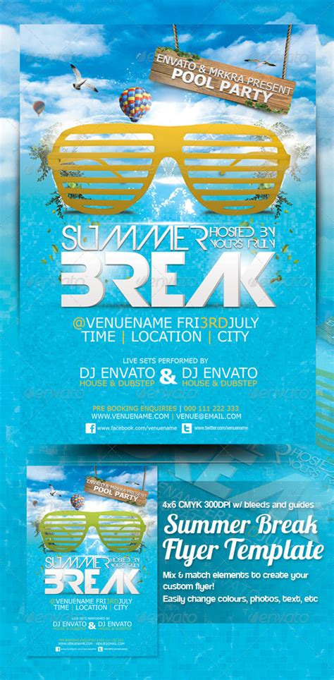 summer event flyer template summer flyer template graphicriver
