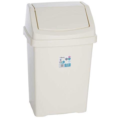 swing top bins wham casa plastic swing top bin 8l 50l rubbish dust waste