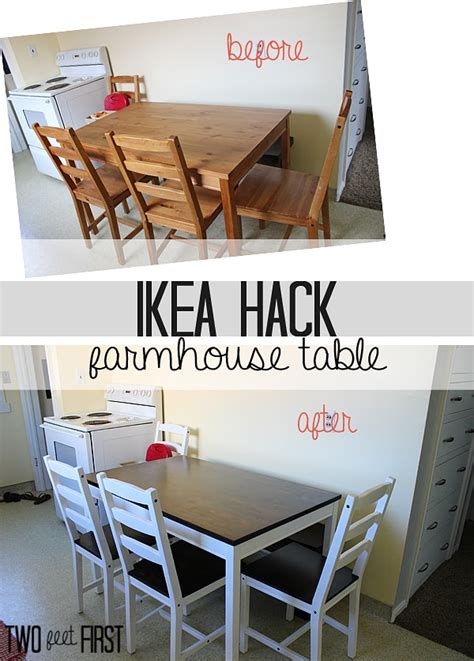 ikea hack farmhouse table twofeetfirst