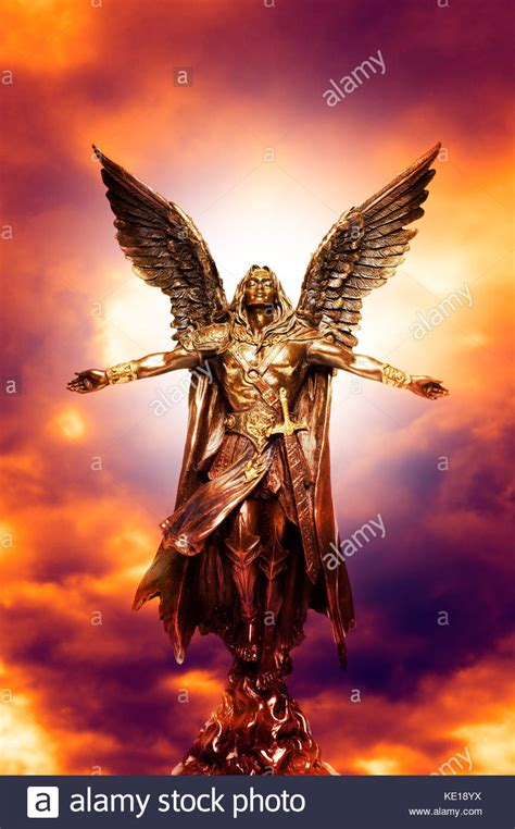 Archangel Michael sculpture of michael archangel stock photo 163527502 alamy