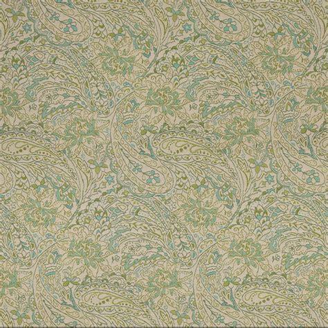 outdoor upholstery fabric green blue and beige paisley indoor outdoor marine