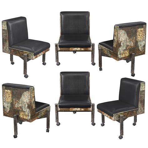 Patchwork Dining Chairs - set of six patchwork dining chairs by paul at 1stdibs