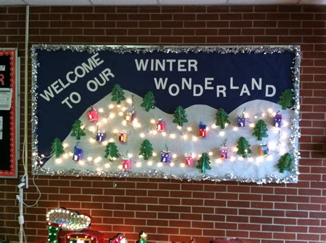 preschool winter bulletin board display my kindergarten
