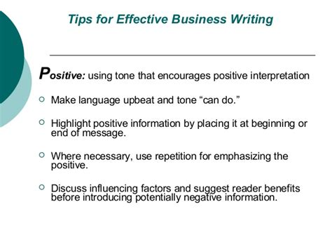 7 Tips On Using For Business by Tips For Effective Business Writing