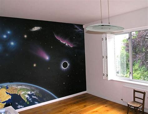 space room ideas space galaxy wall paintings space bedroom pinterest