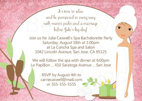spa invitations templates free river photo greetings spa invitation