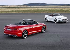 Audi Convertible A5 2017 Audi A5 And S5 Cabriolet Unveiled Forcegt