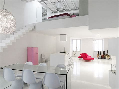 modern minimalist black and white lofts minimalist and modern loft interior design in white color