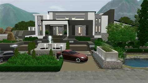 sims 3 modern house floor plans lovely modern mansion the sims 3 modern mansion no custom content hidden