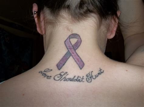 domestic violence survivor tattoos the gallery for gt domestic violence ribbon