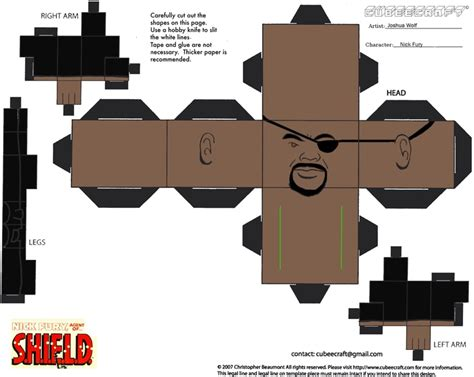 Ultimate Papercraft 3d - furious saturday nick fury