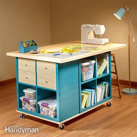 ikea kallax hack craft room storage the family handyman