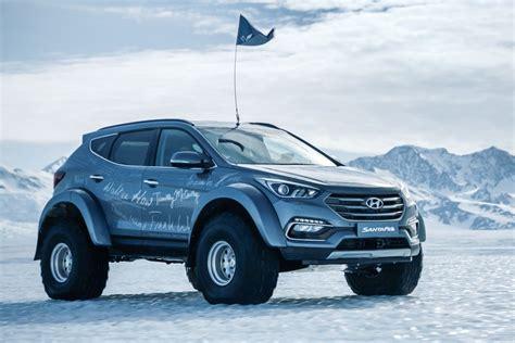 Lifted Hyundai Santa Fe by Hyundai Crosses Antarctica With Beefed Up Santa Fe The Drive