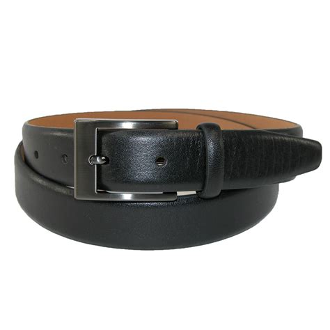 mens leather soft touch dress belt by geoffrey beene