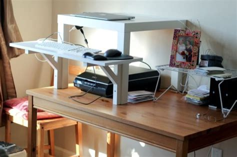ikea lack standing desk 10 ikea standing desk hacks with ergonomic appeal