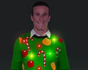 Flashing lights ugly christmas sweater