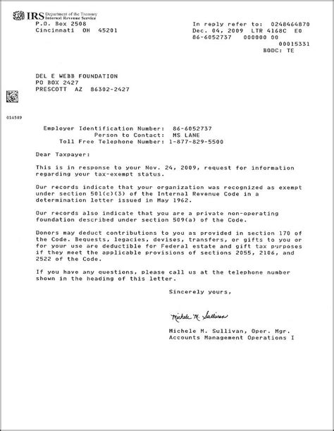 Irs Verification Letter Phone Number E Webb Foundation