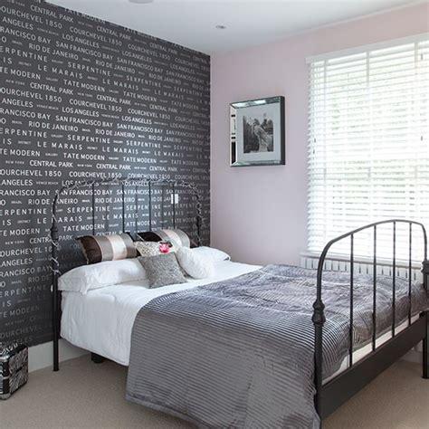 black wallpaper for bedroom walls bedroom with black motif wallpaper decorating
