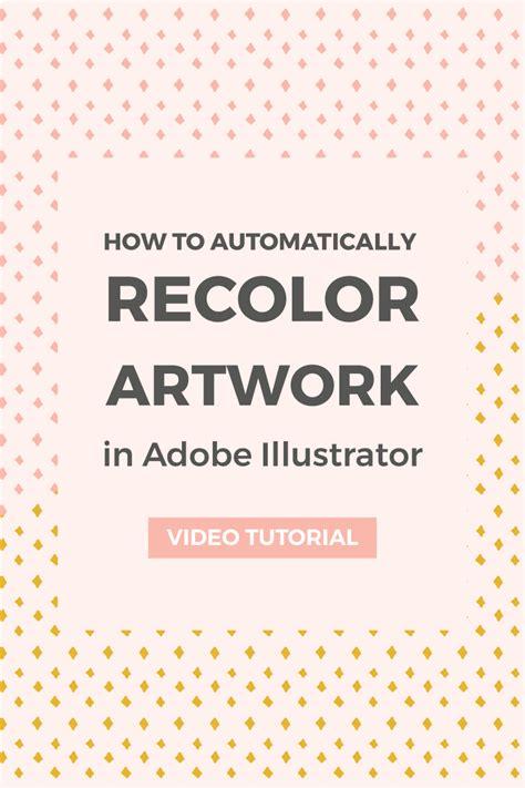 adobe illustrator recolor pattern how to recolor artwork in adobe illustrator elan