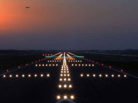 runway lights at night at home in the night sky the most honest place i know