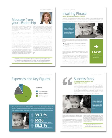 Donor Impact Report Template Yodelpop S Nonprofit Annual Report Template Pro
