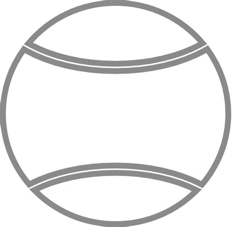 Balls Outline by Tennis Outline Clip At Clker Vector Clip Royalty Free Domain