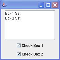 java swing box swing checkbox demo checkbox button 171 swing jfc 171 java