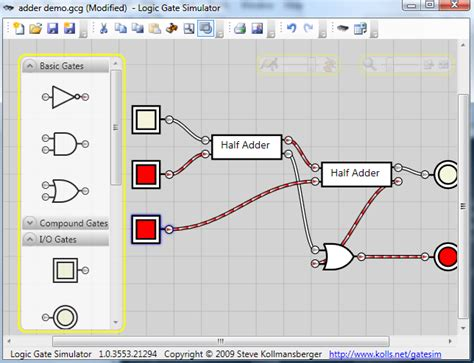 logic circuit builder logic gate simulator