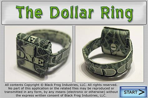 How To Make A Origami Dollar Ring - 301 moved permanently