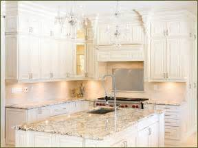 White Kitchen Cabinets With Granite Countertops White Kitchen Cabinets With Brown Granite Countertops Home Design Ideas