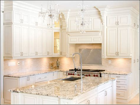 Countertops For White Kitchen Cabinets White Kitchen Cabinets With Granite Countertops Things To About House And Home