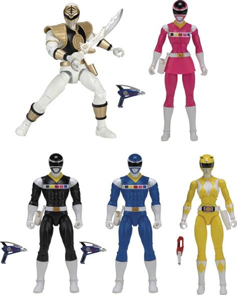Power Ranger Set 4 Original mighty morphin power rangers legacy 6 quot wave 3 set of 5