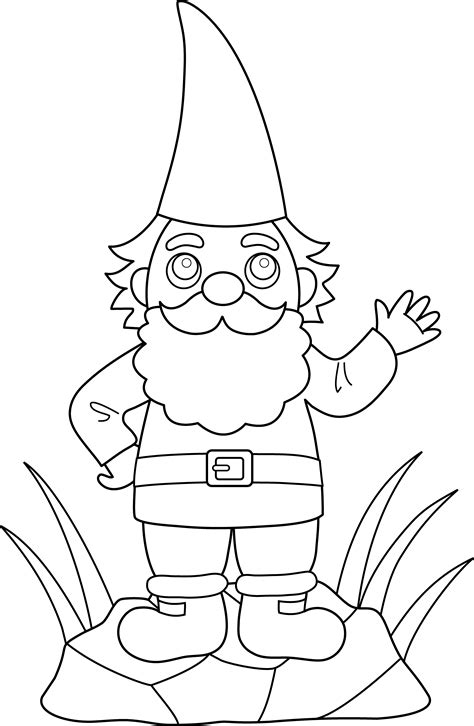 lawn gnome drawing