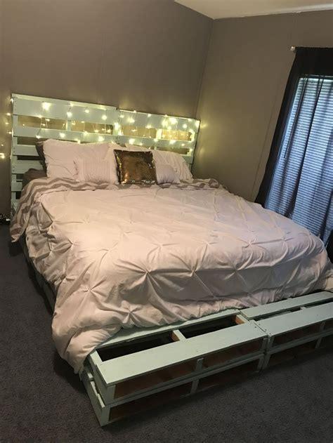 pallet bed frames ideas  pinterest pallet