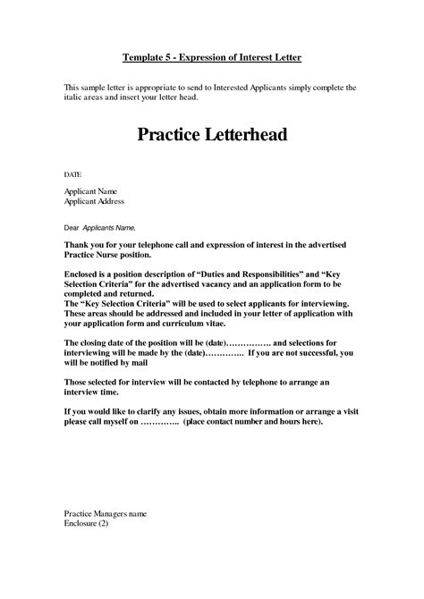 letter of interest format new calendar template site letter of