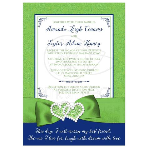 Wedding Invitations Green by Wedding Invitation Royal Blue Lime Green White Floral