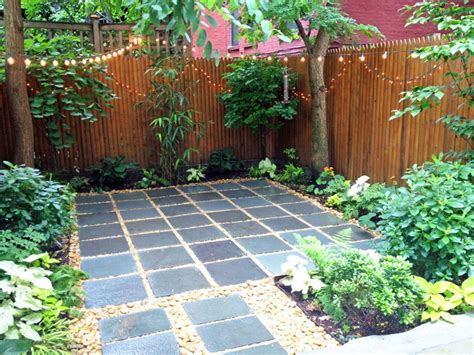 harlem backyard patio bluestone pavers shade garden