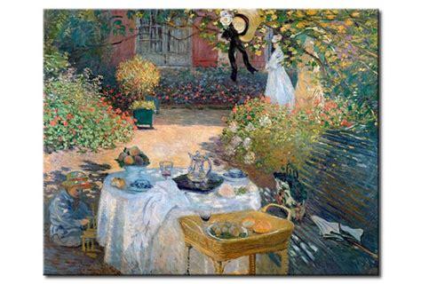 giardini di monet quadro famoso il pranzo giardino di monet a argenteuil