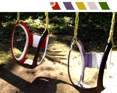 swings made from tires diy inspiration recycled tire swings live colorful