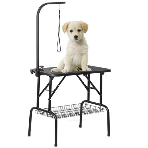 grooming tables for small dogs adjustable 32 quot pet cat grooming table foldable w arm