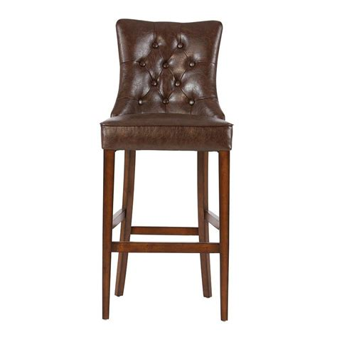 home decorators bar stools home decorators collection rebecca 31 in brown cushioned