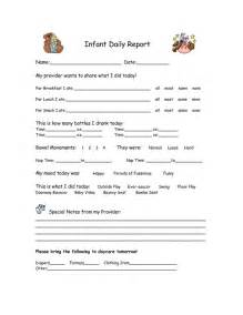 infant daily report daycare forms pinterest