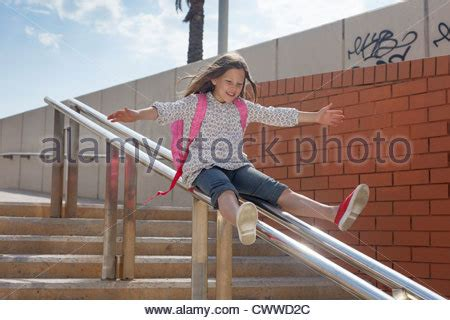 sliding down banister stair stock photos stair stock images alamy