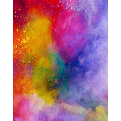 color powder burst of color powder abstract 60 quot w x 60 quot h