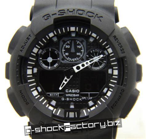 G Shock Ga 100 Black Opp3 g shock ga 100 black on black by www g