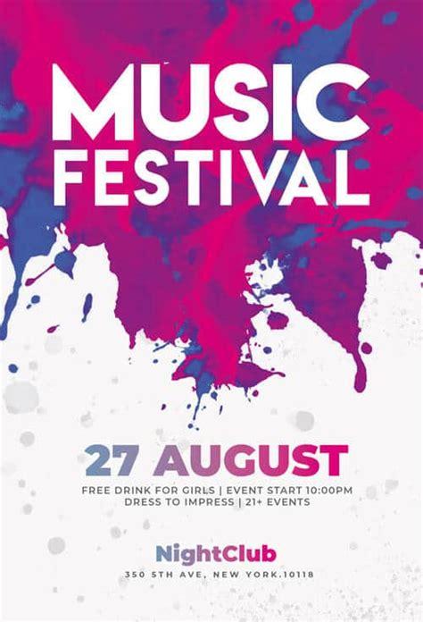festival flyers psd templates creativeflyers